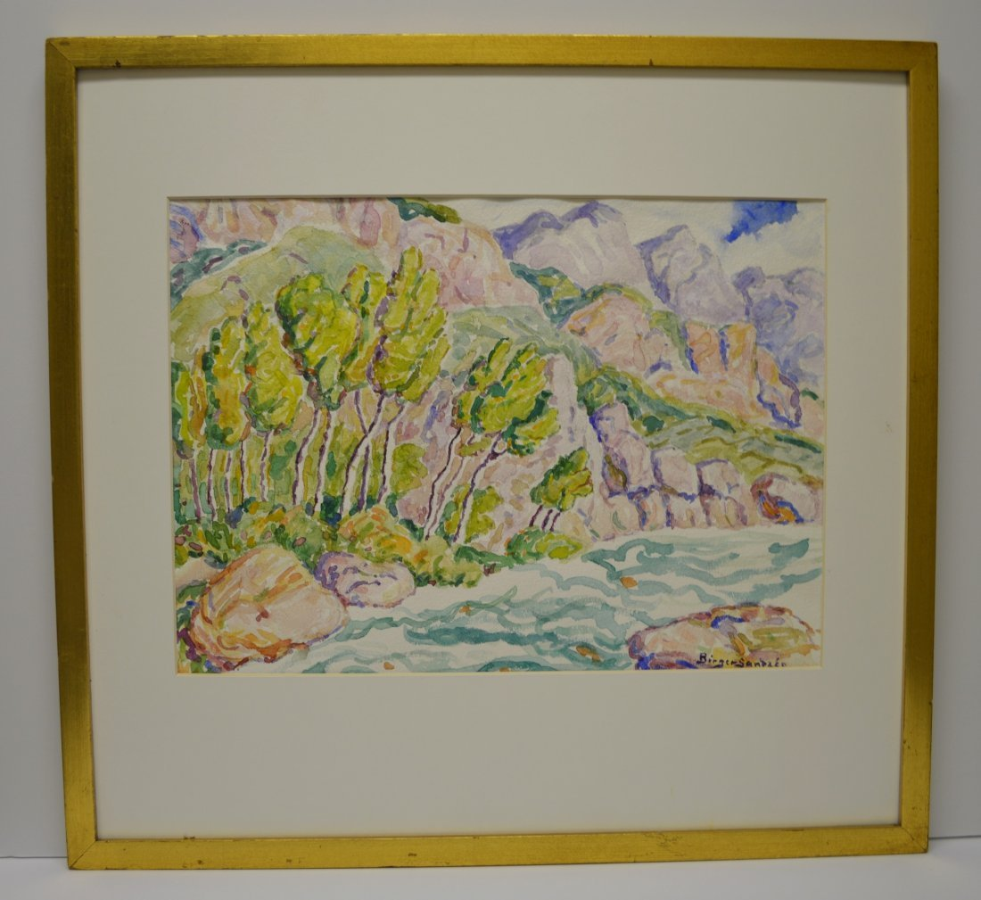 BIRGER SANDZEN ATTR WATERCOLOR ON PAPER