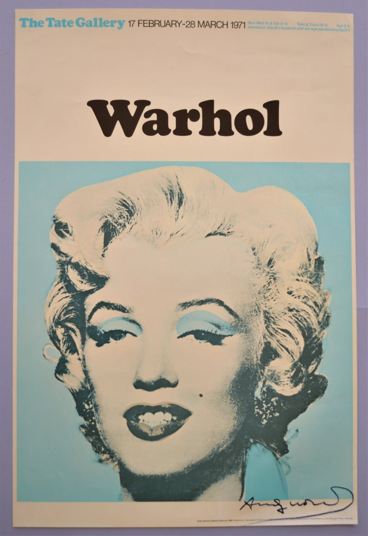 ANDY WARHOL TATE GALLERY EXHIBITION POSTER 1971