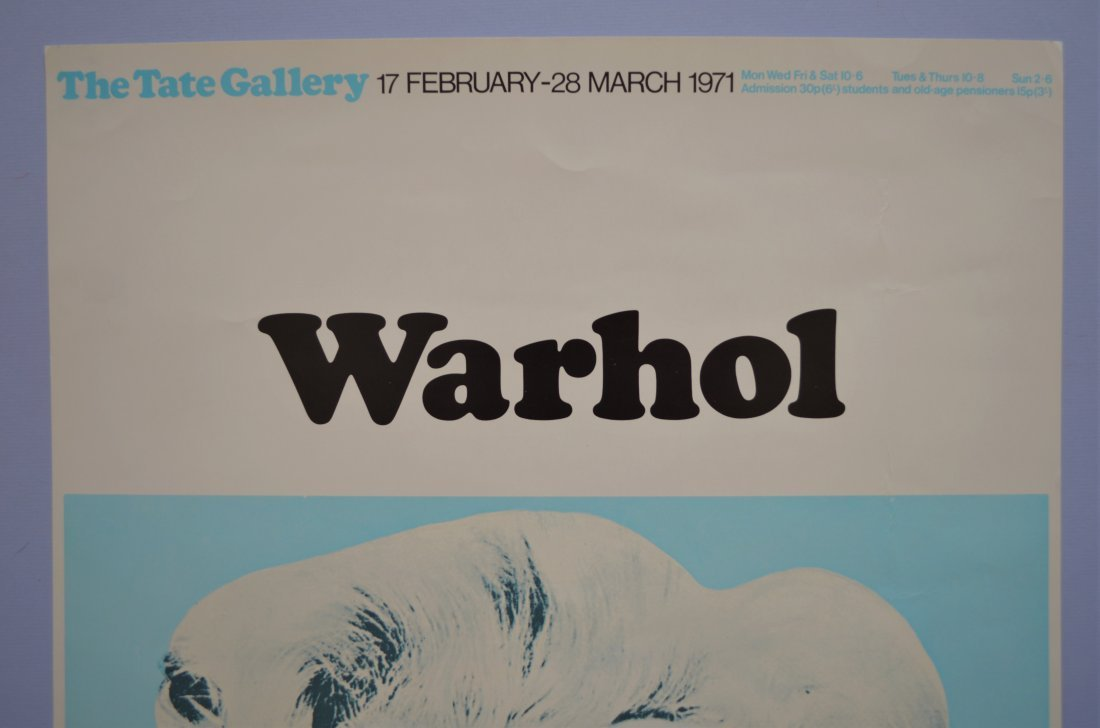 ANDY WARHOL TATE GALLERY EXHIBITION POSTER 1971 - 2