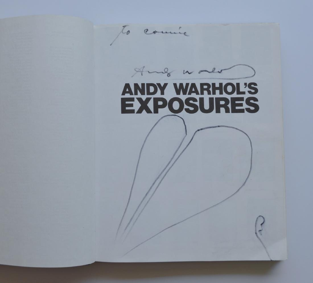 ANDY WARHOL EXPOSURES BOOK SIGNED 1979