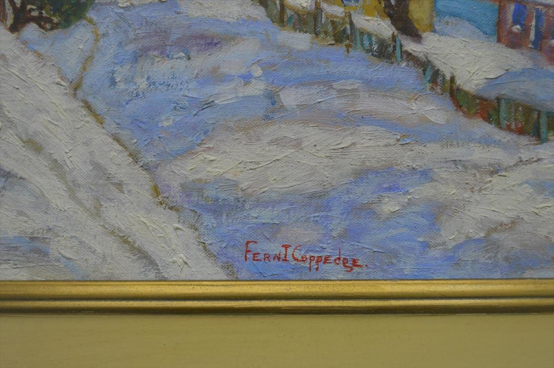 FERN COPPEDGE ATTR SNOW SCENE OIL ON CANVAS - 4