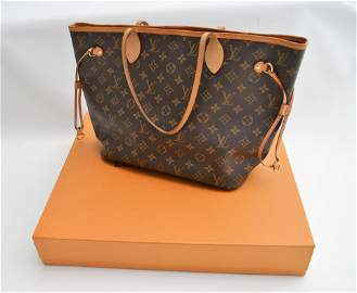 LOUIS VUITTON NEVERFUL MM PURSE WITH BOX