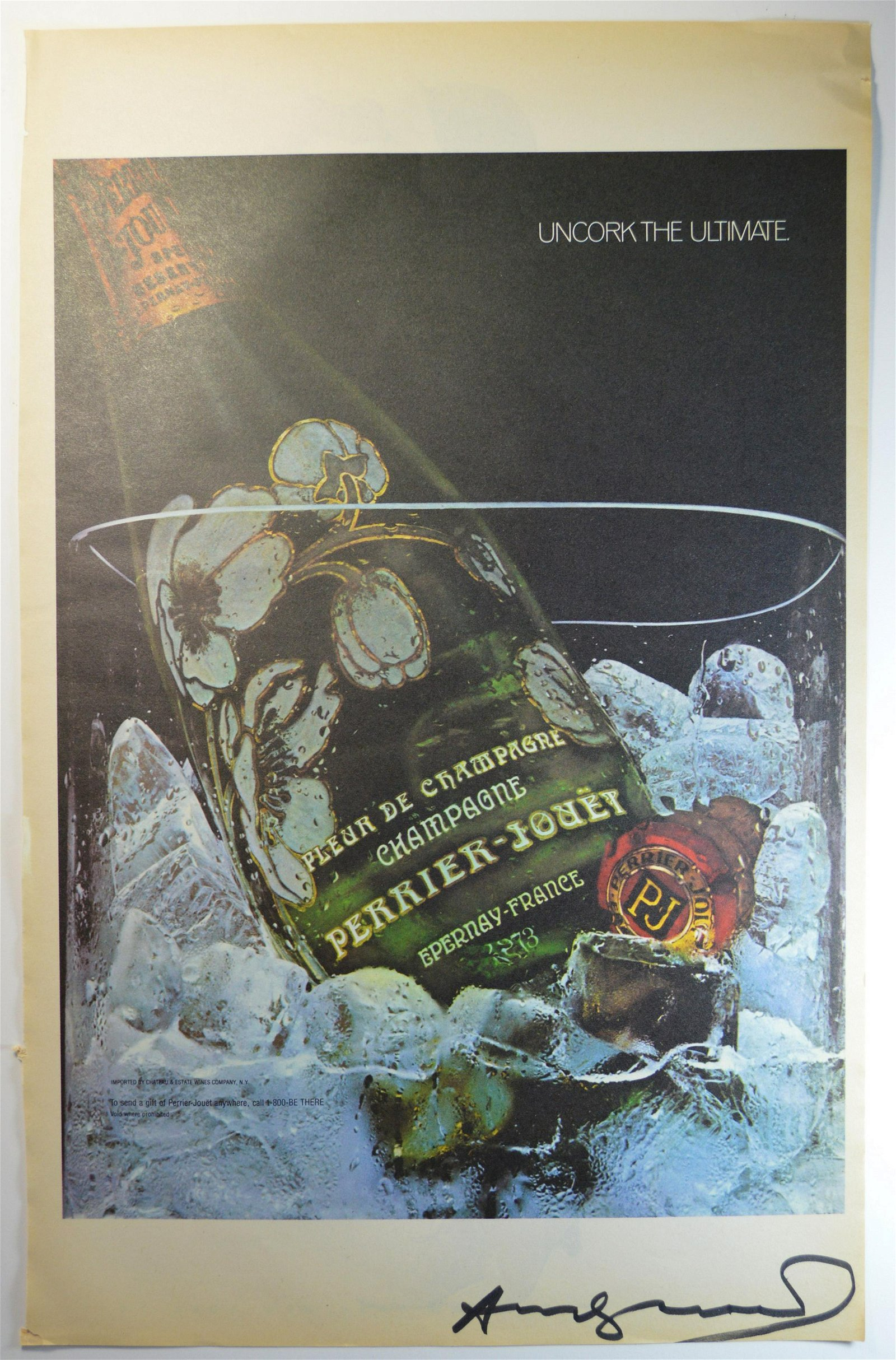 ANDY WARHOL PERRIER VINTAGE LITHOGRAPH