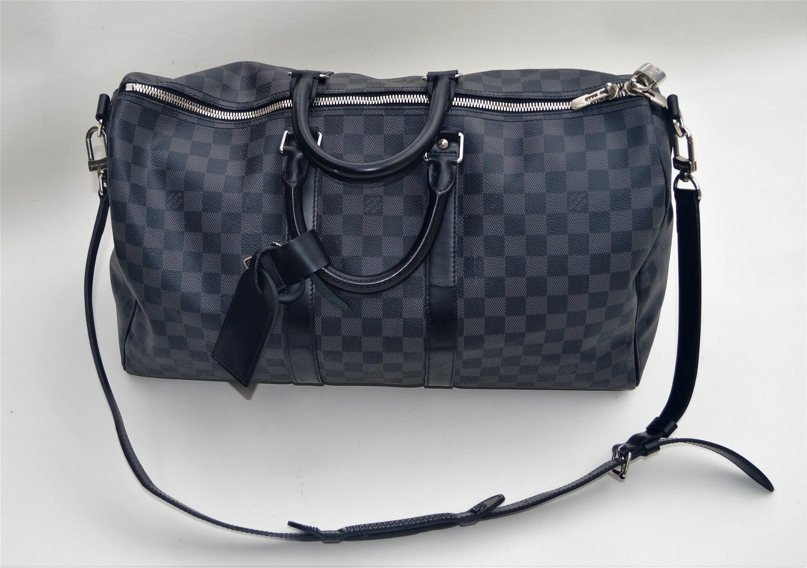 LOUIS VUITTON DAUMIER CANVAS/LEATHER DUFFEL 45 KEEPALL