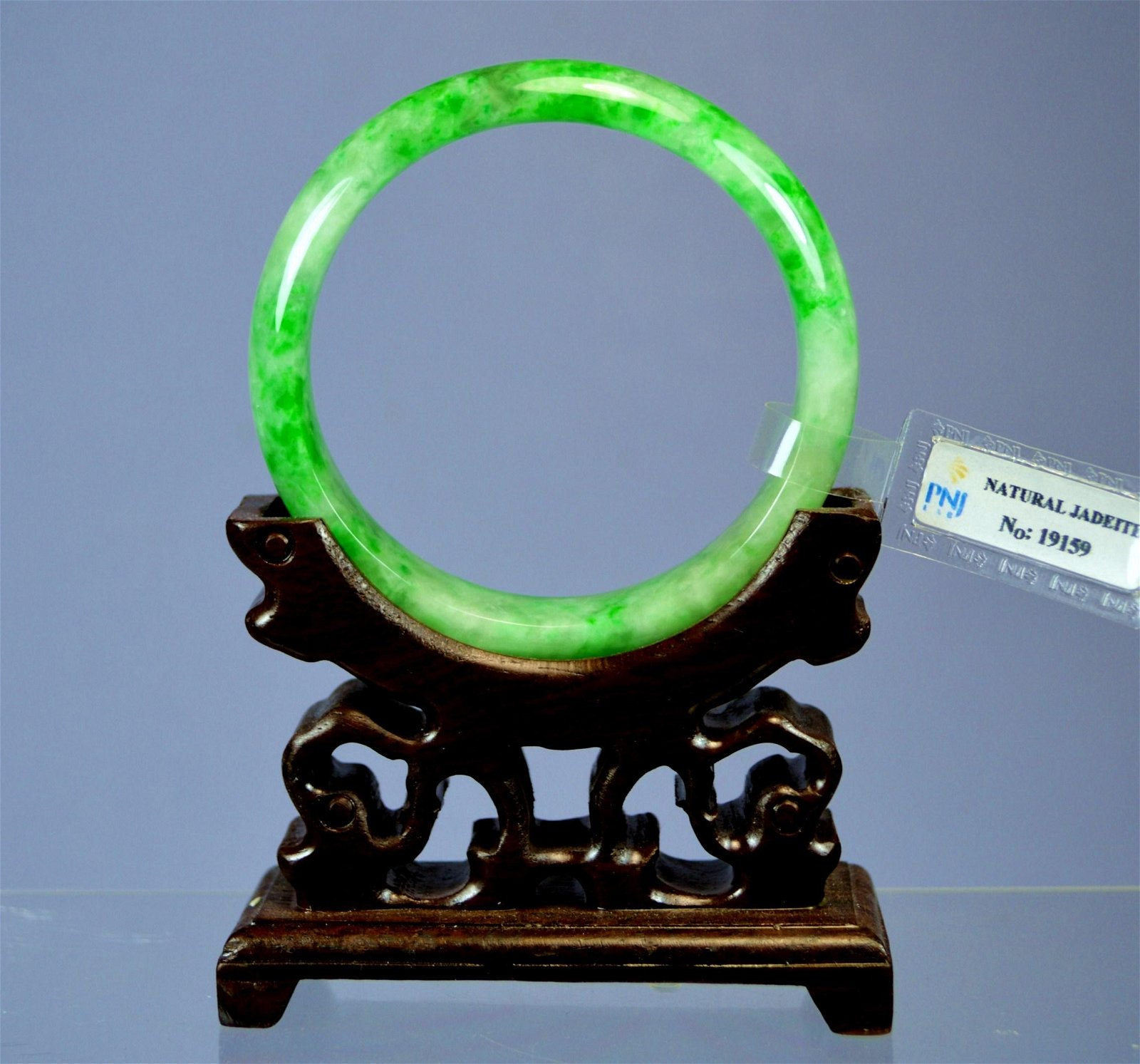 CHINESE TOP CERTIFIED GREEN JADE BANGLE
