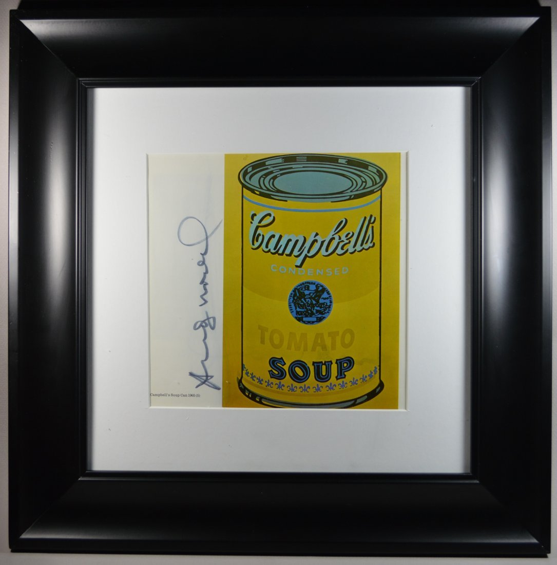 """AFTER ANDY WARHOL LITHOGRAPH """"CAMPBELL SOUP"""""""