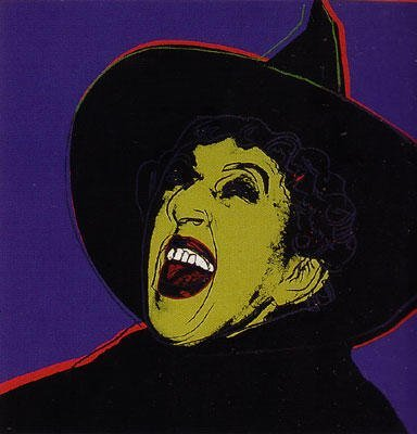 """ANDY WARHOL SCRPRNT """"WITCH"""" FROM MYTHS PORTFOLIO 1981"""
