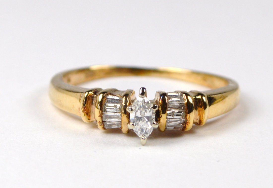 RING SOLITAIRE 14 KT GOLD