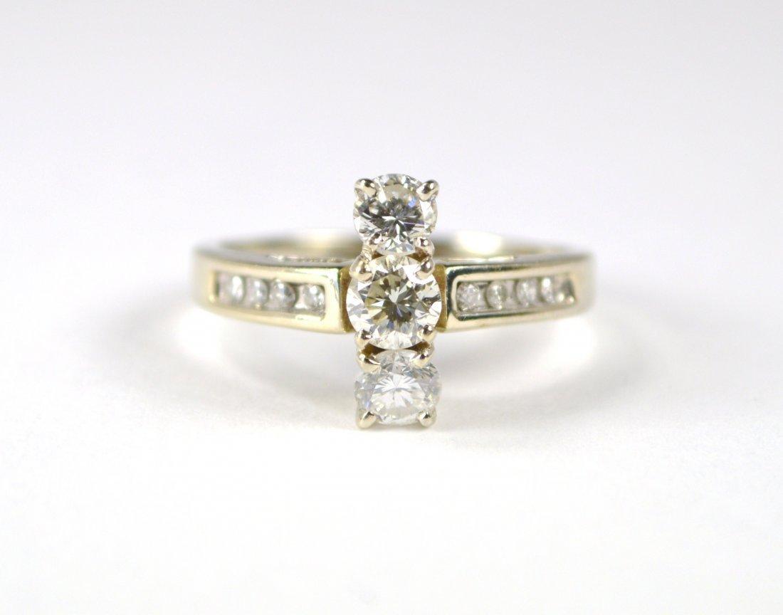 RING, 14 KT GOLD, DIAMONDS