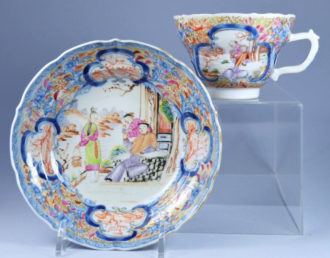 CHINESE QIANLONG PORCELAIN SAUCER/PLATE 18TH C
