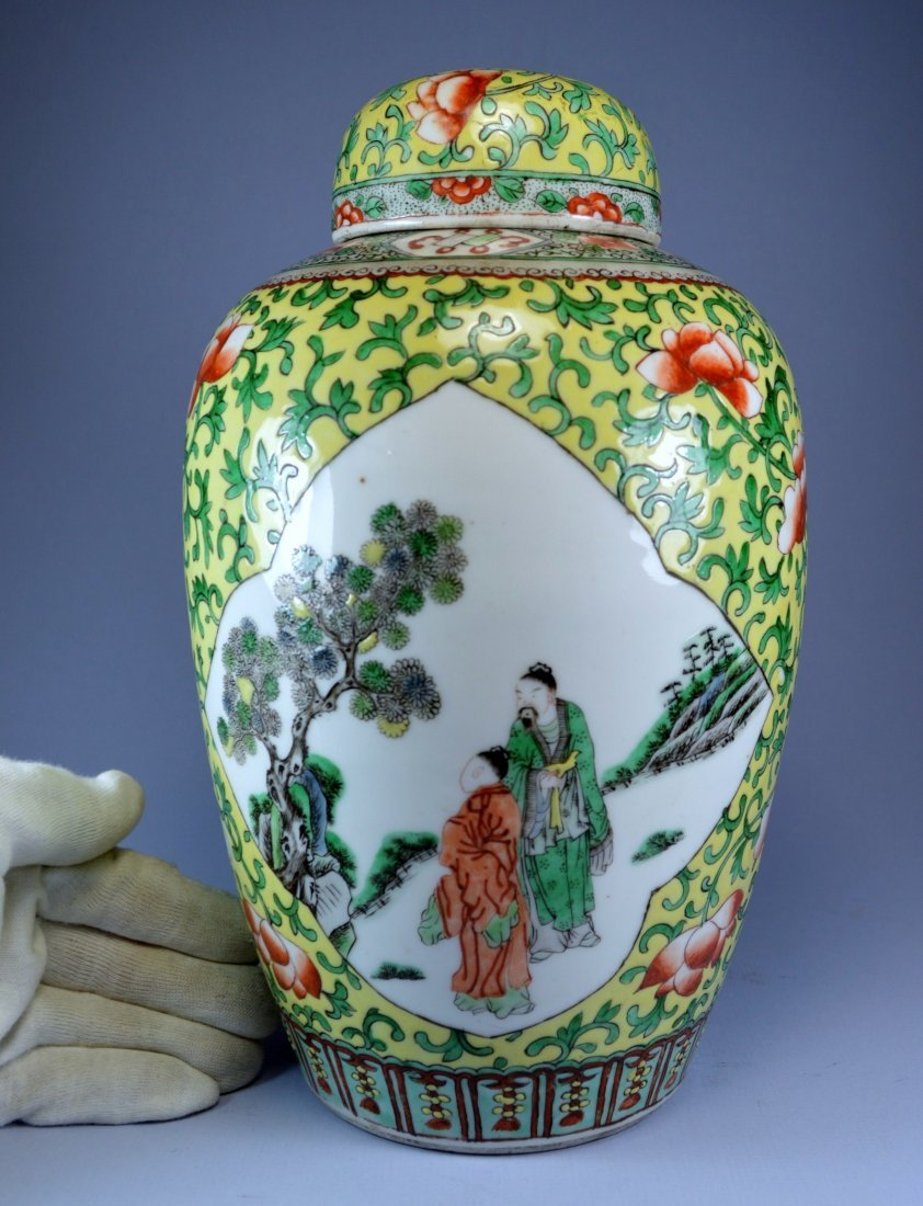 CHINESE TOP LARGE  FIGURAL GINGER JAR CA 19TH