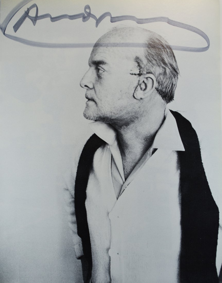 "VINTAGE LITHOGRAPH SIGNED ANDY WARHOL ""TRUMAN CAPOTE"""