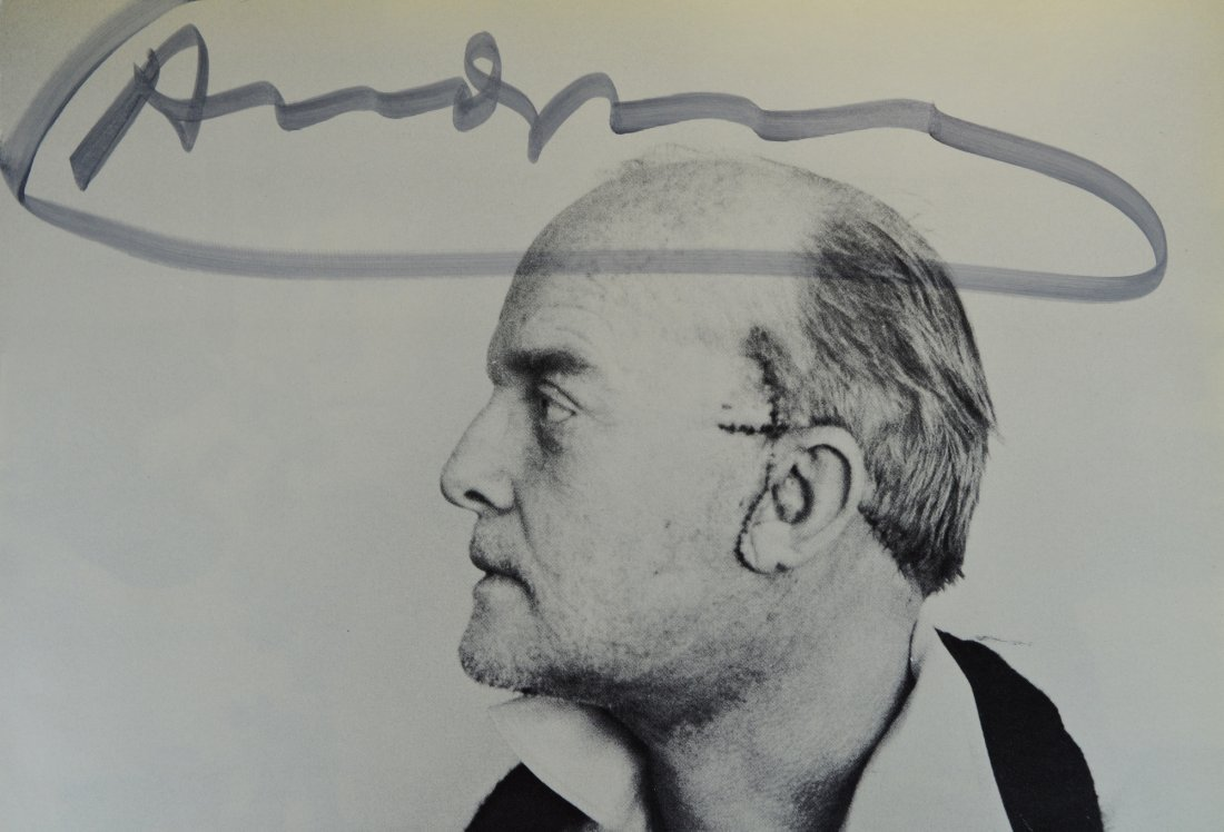 "VINTAGE LITHOGRAPH SIGNED ANDY WARHOL ""TRUMAN CAPOTE"" - 2"
