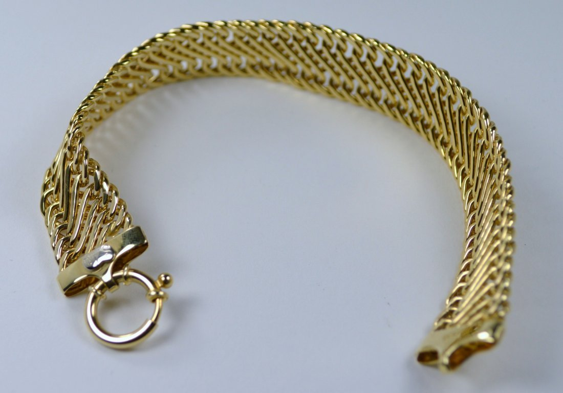 BRACELET, 14 KT GOLD