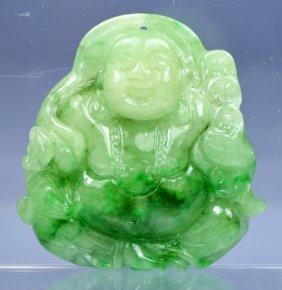 Chinese Grade A Top Jade Buddha Amulet Pendant