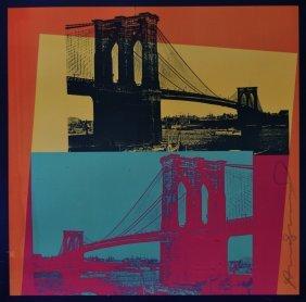 Andy Warhol Brooklyn Bridge Vintage Poster