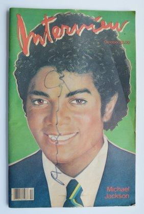 "Andy Warhol Interview Magazine Sgd ""michael Jackson"""
