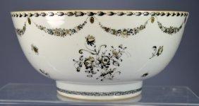 Chinese Porcelain Famille Noir Bowl 18th C