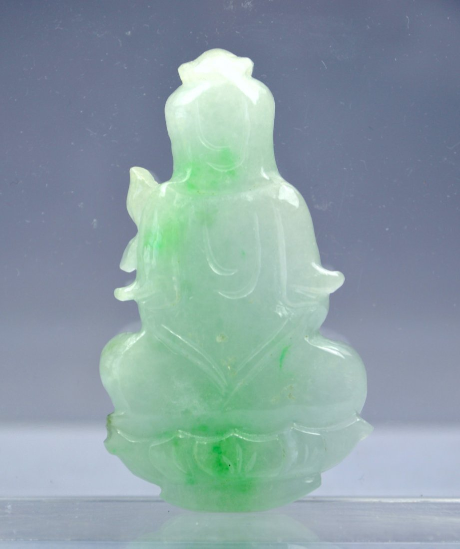 CHINESE CERTIFIED TOP JADE PENDANT - 2