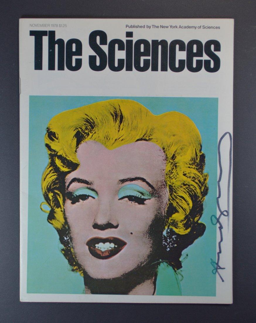 ANDY WARHOL SGD SCIENCES MAGAZINE W/ BLUE MARILYN 1978