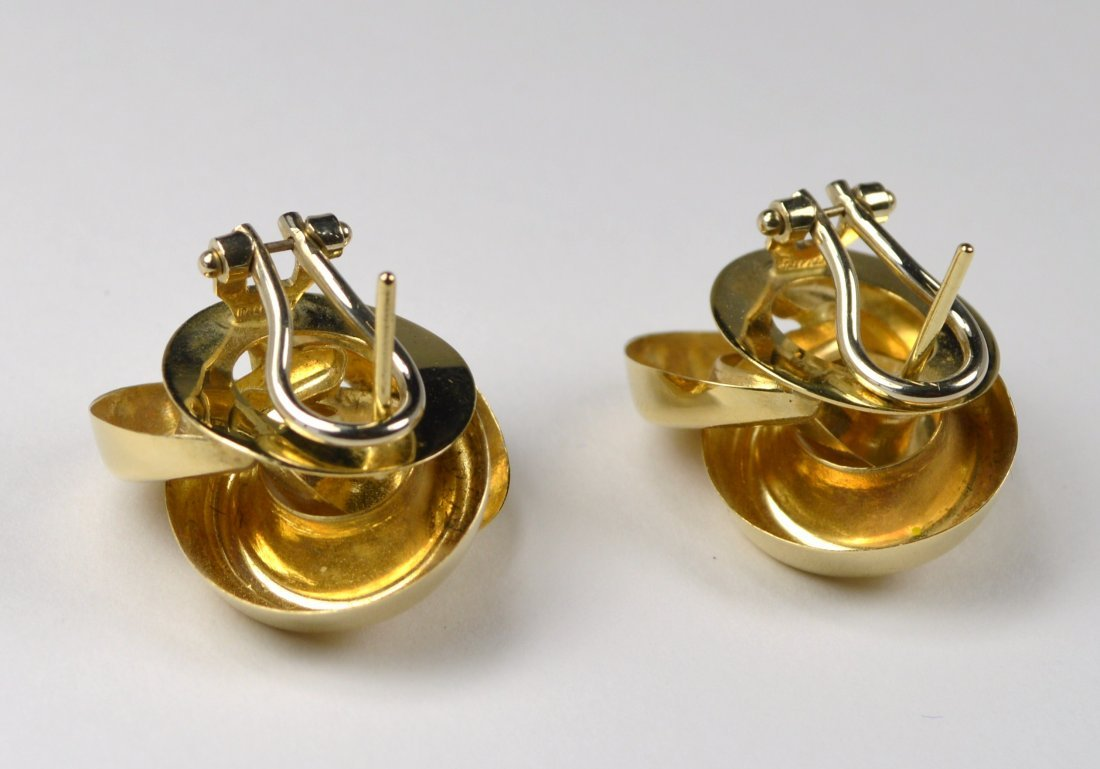 EARRINGS, 14 KT GOLD - 2