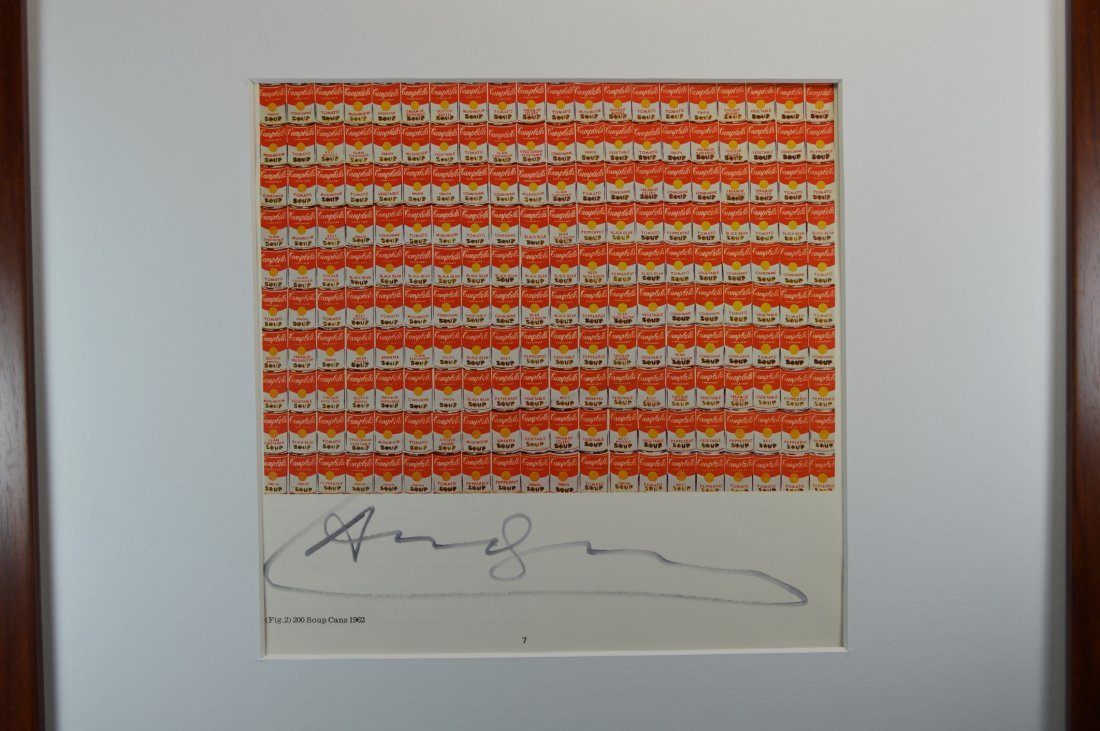 ANDY WARHOL VINTAGE LITHOGRAPH. - 4