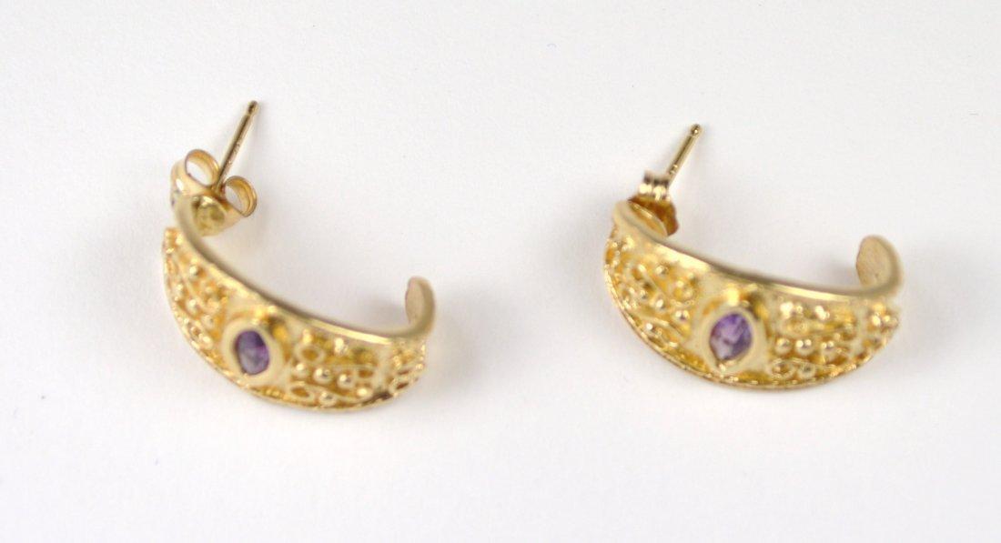 EARRINGS, 14 KT GOLD - 2