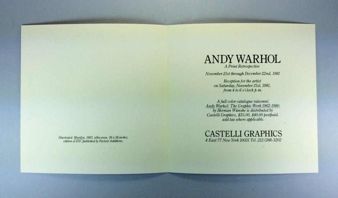 ANDY WARHOL CASTELLI INVITATION PINK MARILYN 1981 - 6