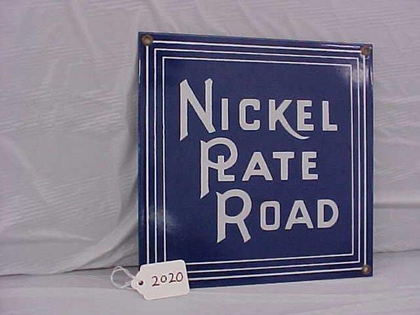 2020: NKP RR Porcelin Sign (Repro)