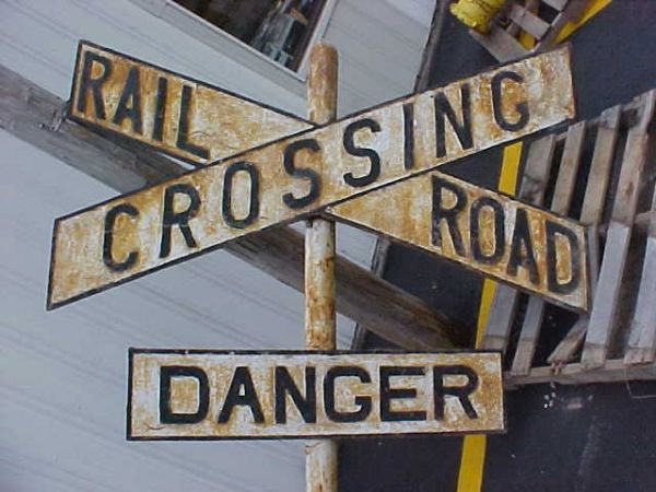 2401: Railroad Crossing sign All heavy metal