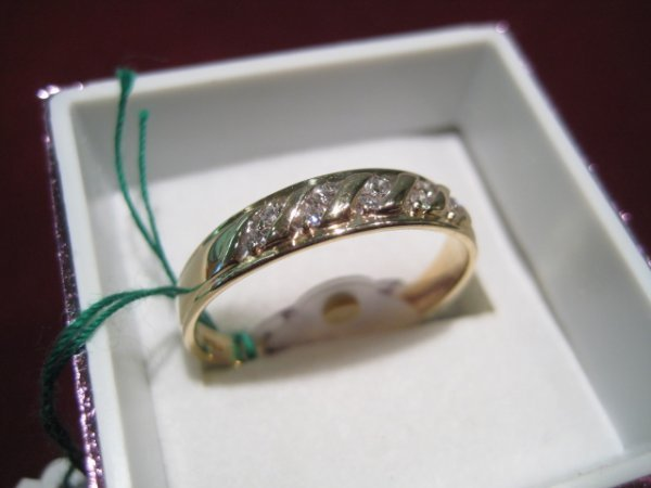 14: Ladies Solid Gold Band Ring