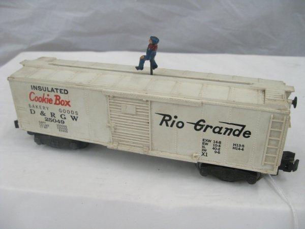 2574: #25049 Walking Brakeman Operating Box Car