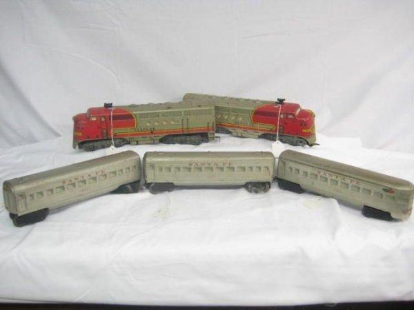 4011: 5pc Santa Fe Passenger Set