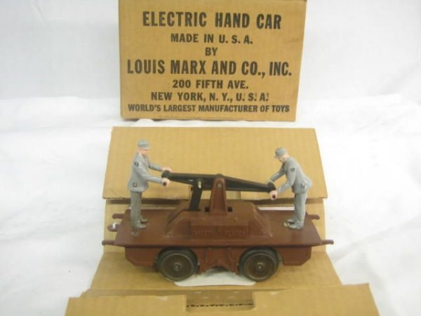 4014: Boxed Electric Hand Car