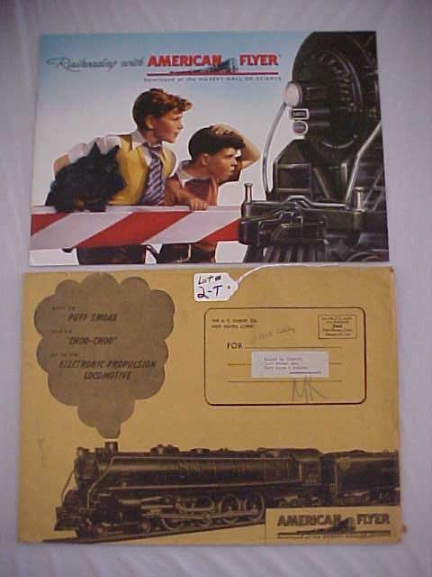 1002: 1948 American Flyer Catalog & Envelope
