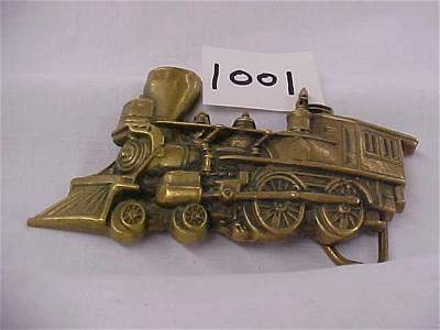 2001: Brass Locomotive Belt Buckle