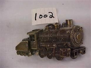 Brass Locomotive Belt Buckle 272