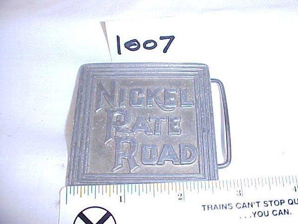 2007: Nickel Plate Road Belt Buckle