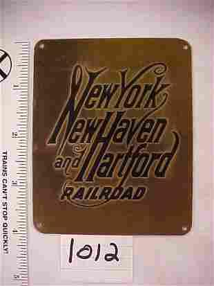 New York New Haven & Hartford RR Plaque