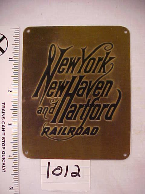 2012: New York New Haven & Hartford RR Plaque