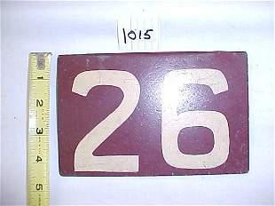 "Iron Sing Marker ""26"""