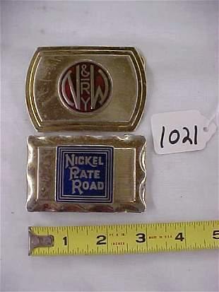 2 Belt Buckles, NKP & N & W RY