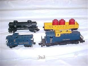 Lionel 614 Locomotive & 3 Cars, Alaska