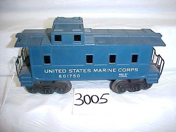 3005: Lionel 601750 U.S. Marine Caboose