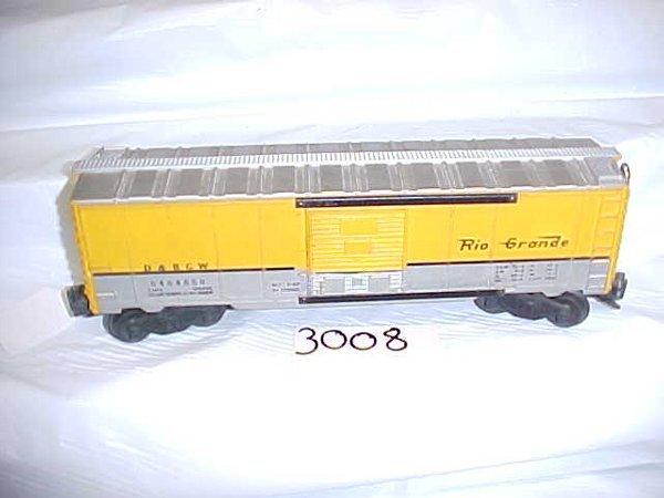 3008: Lionel 6464 650 D & R G W Box Car