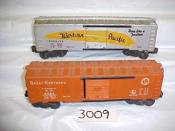 3009: 2 Lionel Box Cars-6464, 6464100