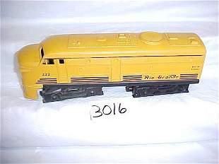 Lionel 222 Rio Grande Locomotive