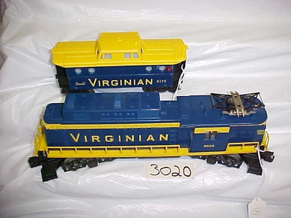 3020: Lionel 8659 Virginian Engine & Caboose