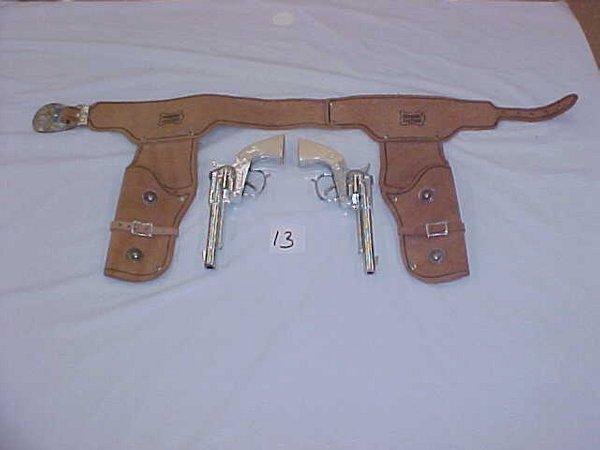 3013: Pair Hubley  single shot cap gun