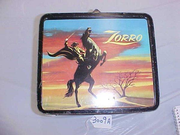 3009A: Zorro Black Sky Lunch Box, 1958